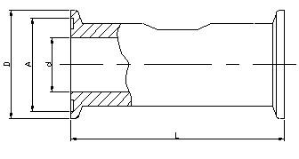 LWS卫生型液体涡轮流量计外形尺寸