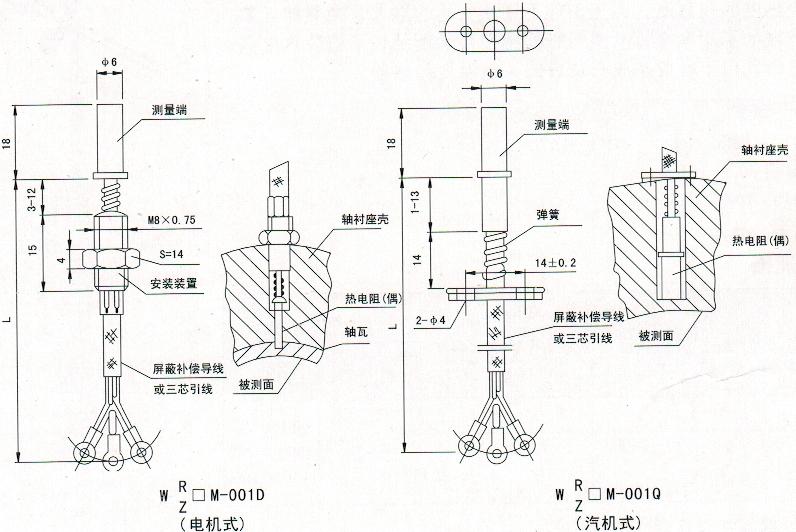产品展示 温度仪表系列 >> 端面热电偶   测量范围和允差