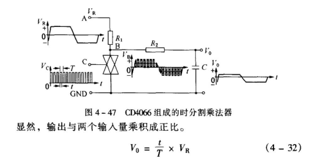 电磁流量计时分割乘法器电路